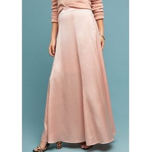 Anthropologie hutch grace satin maxi skirt